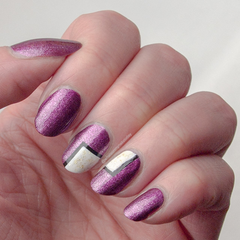 52weeknailchallenge - week 18: Most expensive nail polish nail art ...