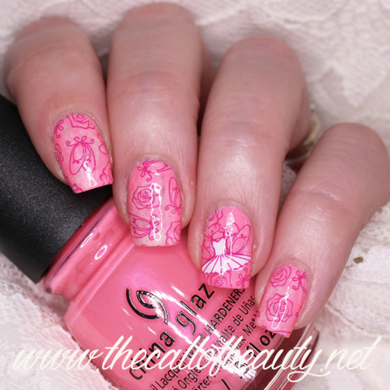Ballet Manicure nail art by The Call of Beauty