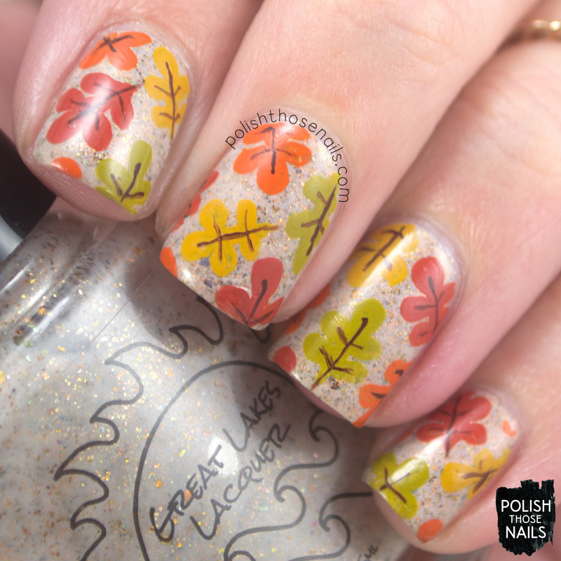 There's Autumn Leaves In Her Soul nail art by Marisa  Cavanaugh