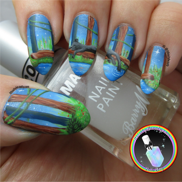 Jungle Nail Art nail art by Ithfifi Williams