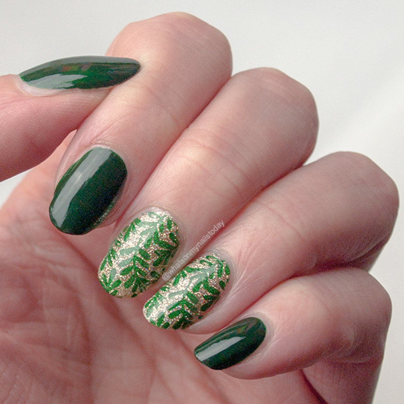 #52weeknailchallenge - week 19: Gold + Green nail art by What's on my nails today?