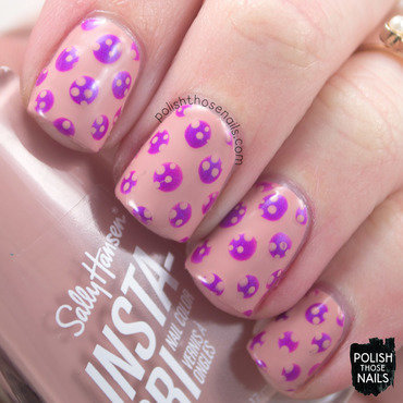 Sally hansen buff tumble purple polka dot pattern nail art 4 thumb370f