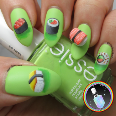 3D Sushi Nail Art nail art by Ithfifi Williams