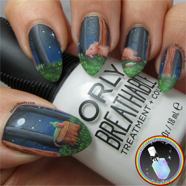 Drunken Bear nail art by Ithfifi Williams