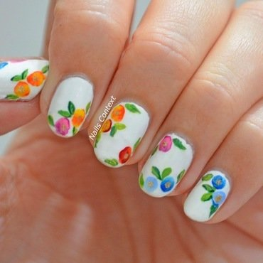 Watercolor Florals  nail art by NailsContext