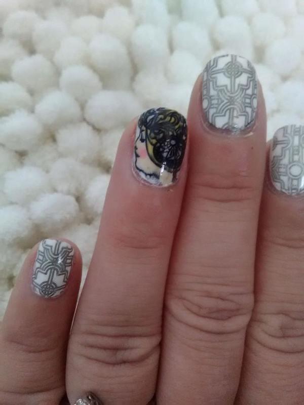 Art Nouveau,  mucha nail art by Sunny
