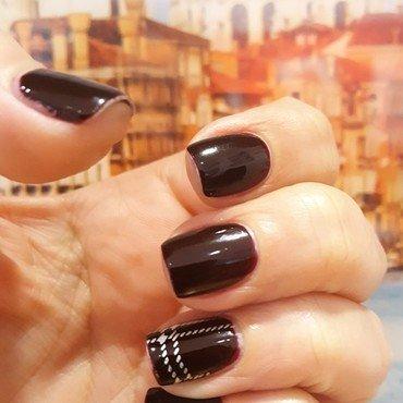 Red, Red Wine nail art by Katarinna