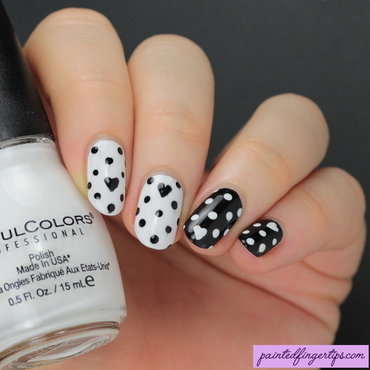 Black & white dotticure nail art by Kerry_Fingertips