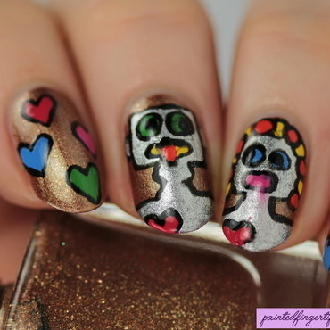 Robots in Love nail art by Kerry_Fingertips