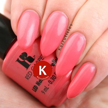 Red Carpet Manicure Floral In The Coral Swatch by Claire Kerr