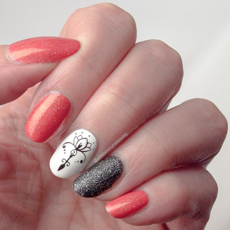 Just-because-I-like-them nails nail art by What's on my nails today?