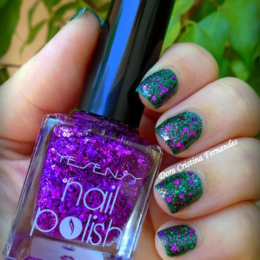Purple & Green Mani  nail art by Dora Cristina Fernandes