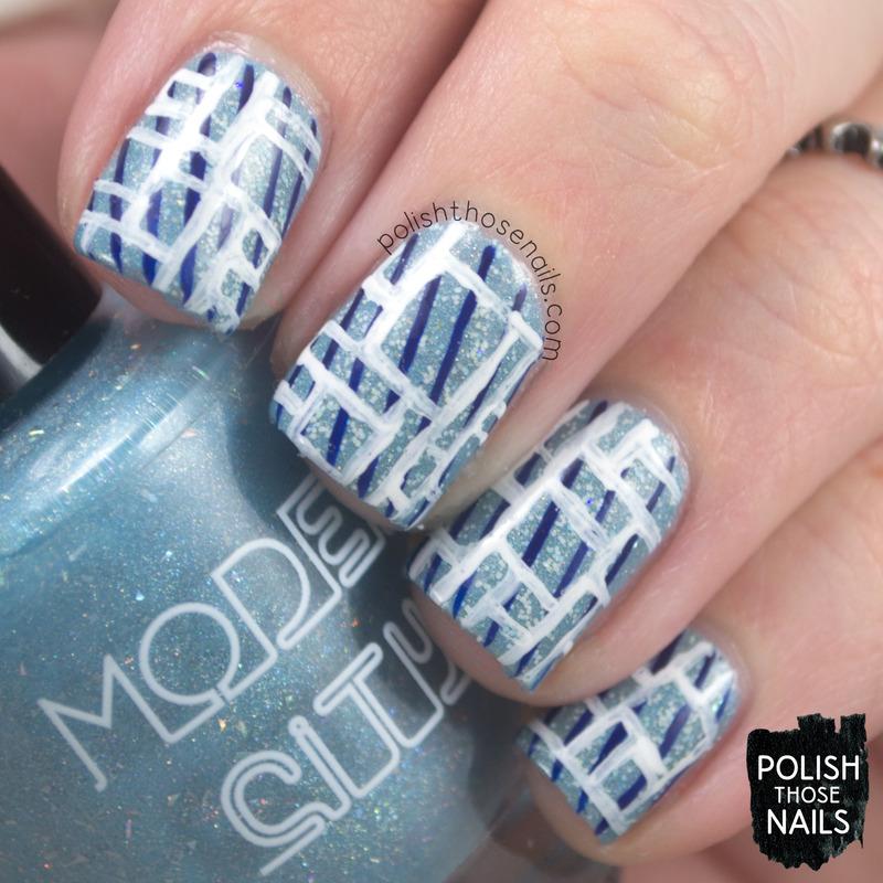 Clear Geometrics nail art by Marisa  Cavanaugh