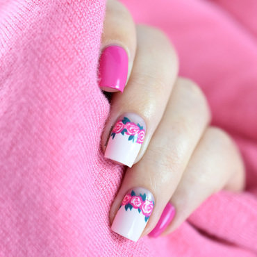 Easy floral crown tutorial nail art by Marine Loves Polish