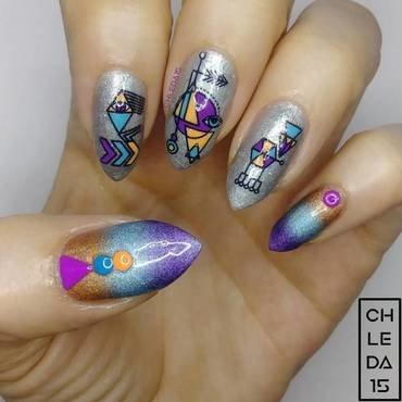 2018 #22 nail art by chleda15