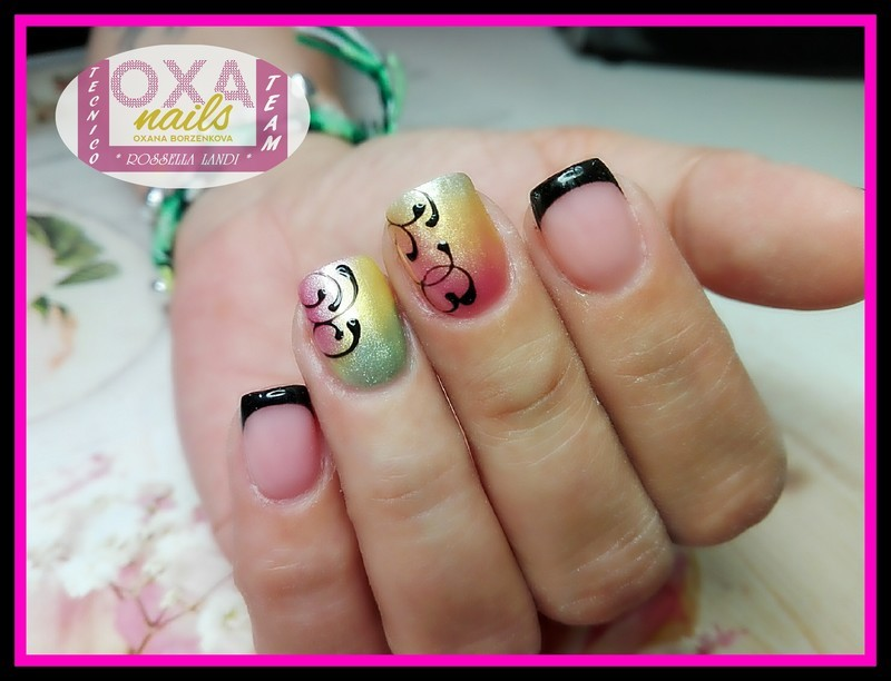 Pigmenti Silk nail art by Rossella Landi