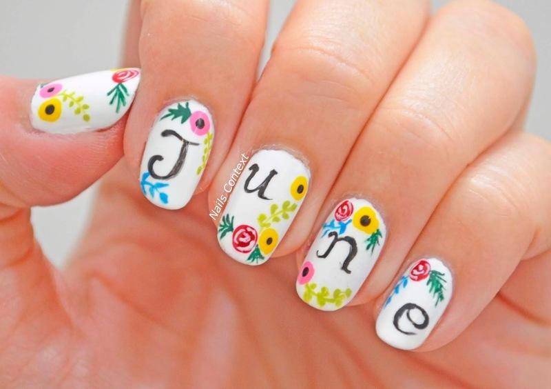 Hello JUNE! nail art by NailsContext