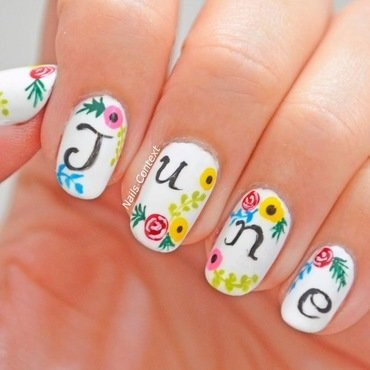 Hello JUNE! nail art by NailsContext