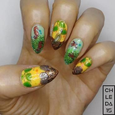 2018 #23 nail art by chleda15