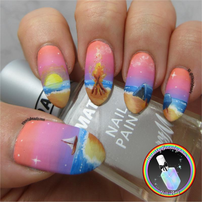 Camping Nail Art nail art by Ithfifi Williams