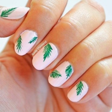 Be-leaf it or not nail art by NailsContext