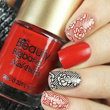 red and black nails form beauty bigbang nail art by beautynailpolish