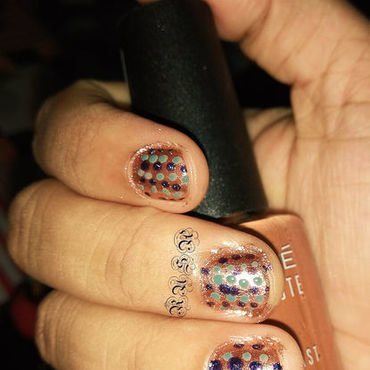 Polka and Polka nail art by Rusa