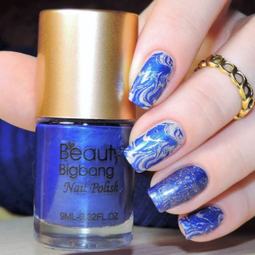 Blue nail polish nail art by beautynailpolish