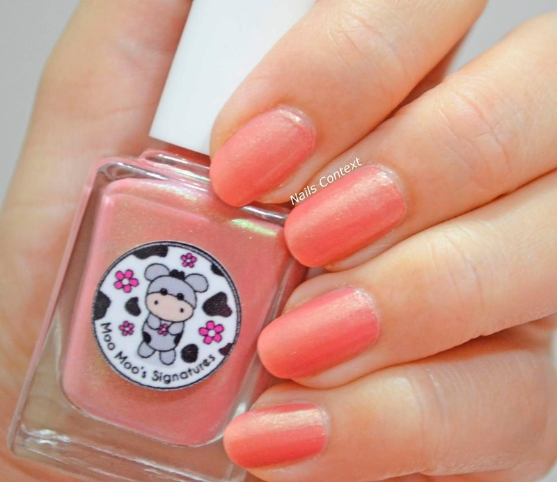 Moo Moo's Signatures Morganite Spell Swatch by NailsContext