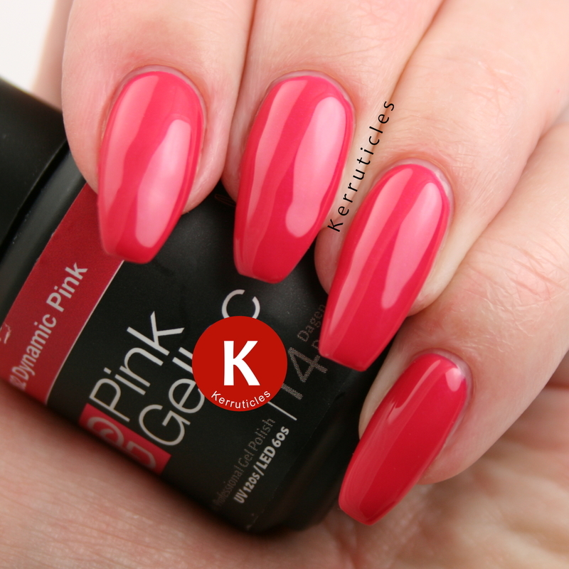 Pink Gellac Dynamic Pink nail art by Claire Kerr