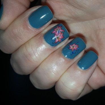 Blue nail art by Katarinna