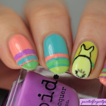 Bunny butts nail art by Kerry_Fingertips