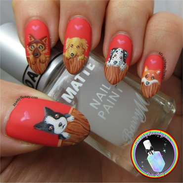 Freehand Puppy Nail Art nail art by Ithfifi Williams