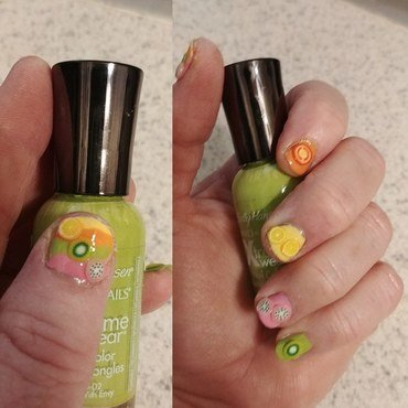 Juicy Fruit nail art by Jill Thompson