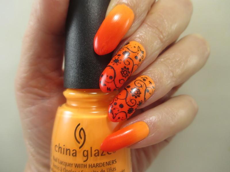 Summer Sunset nail art by NinaB