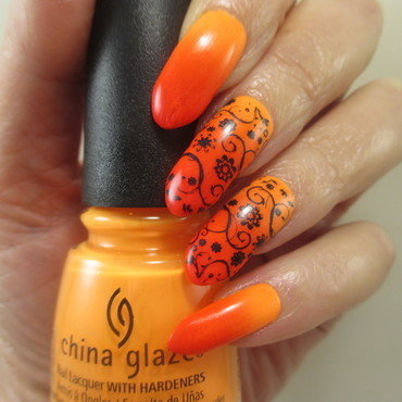 Summer Sunset nail art by NinaB