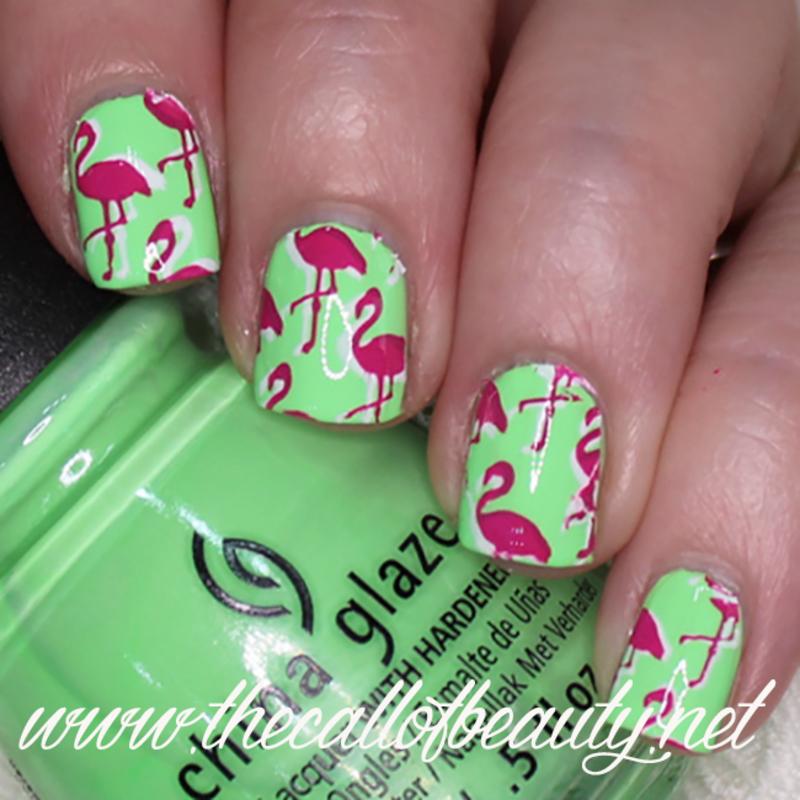 Flamingo Nails nail art by The Call of Beauty