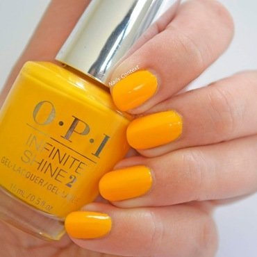 OPI Infinite Shine Sun Sea and Sand in my pants Swatch by NailsContext