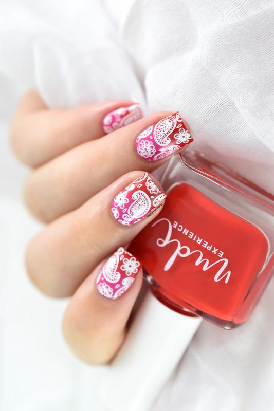 Spring Paisley nail art by Marine Loves Polish