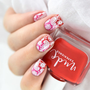 Spring Paisley nail art by Marine Loves Polish