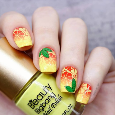 Summer Stamping Nail Art Design nail art by beautynailpolish