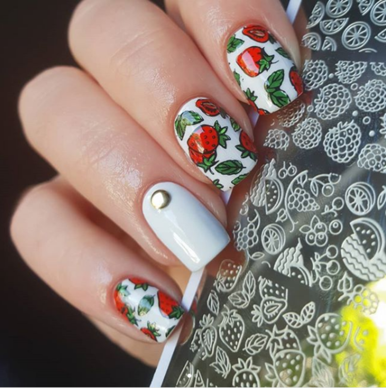 Fruit Summer Stamping Nail Art Design Nail Art By Beautynailpolish