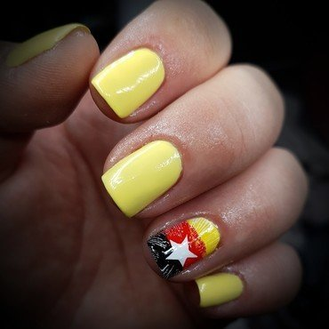 world cup fever🇩🇪😁😁😁 nail art by redteufelchen86