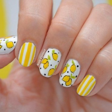 Easy peasy lemon squeezy. nail art by NailsContext