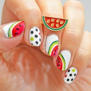 You are one in a melon nail art by NailsContext