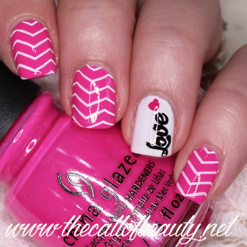 Love Chevrons nail art by The Call of Beauty
