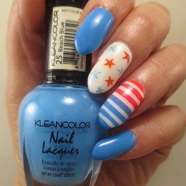 Stars and Stripes nail art by NinaB