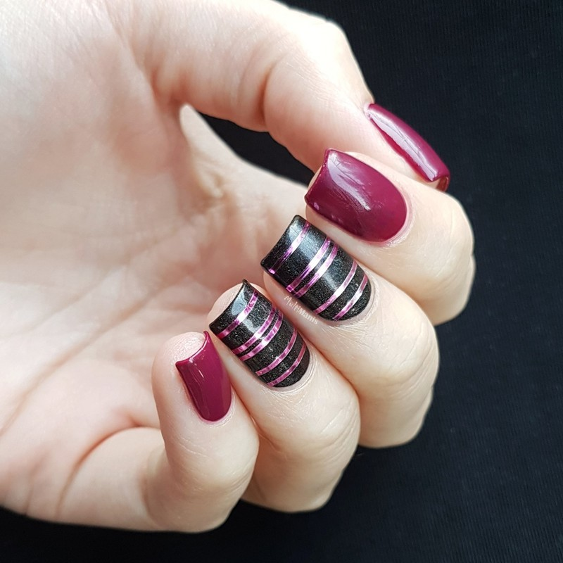 Striping tape nail art by Emmelie Slotboom