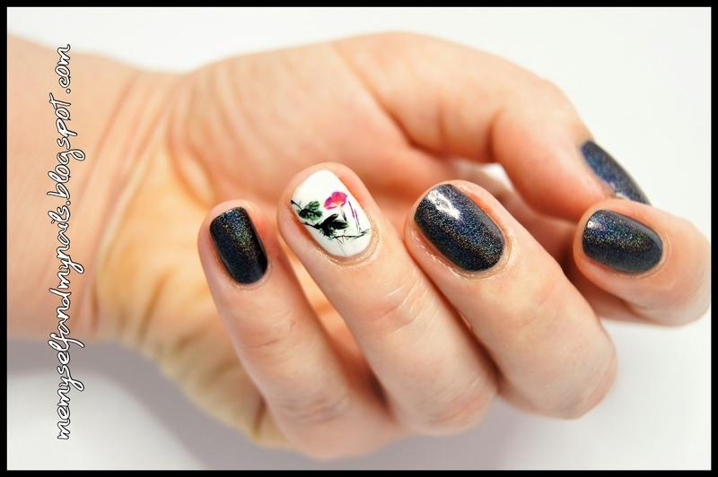 Black holo nail art by ELIZA OK-W