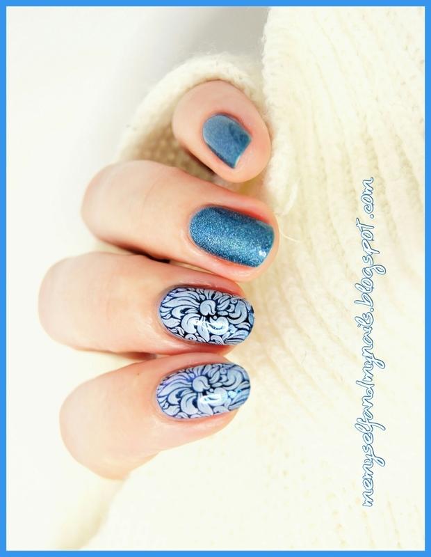 Blue Ornaments nail art by ELIZA OK-W